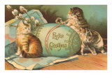 Easter Greetings, Kittens with Large Egg Posters