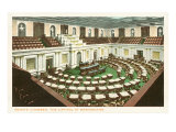 Senate Chamber, Capitol, Washington D.C. Print