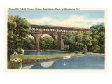 Bridge over Brandywine River, Wilmington, Delaware Posters