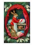 Joyeuses Pâques, lapin dans un oeuf Posters
