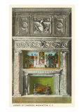 Mosaic Mantel, Library of Congress, Washington D.C. Print