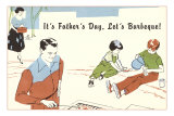 Its Father's Day, Lets Barbecue Posters