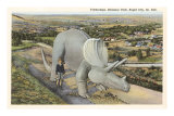 Triceratops, Dinosaur Park, Rapid City, South Dakota Posters