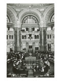 Interior, Library of Congress, Washington D.C. Print