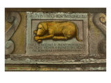The Golden Dog Bas-Relief in Quebec Print