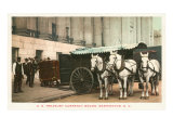 Horse-Drawn Currency Wagon, Washington D.C. Posters