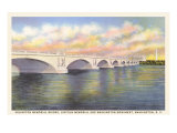 Arlington Memorial Bridge, Washington D.C. Posters