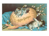 Easter Greetings, Kittens Emerging from Egg Posters