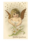Cherub with Lilies Posters