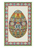 Decorative Art Egg Motif Print