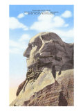 Mt. Rushmore, with Scaffolding, South Dakota Posters