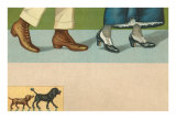 View of Four Feet, Two Dogs Posters