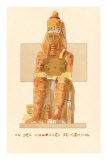 Colossus of Memnon, Rendering, Egypt Print