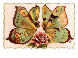French Butterfly Couple Posters