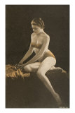 Woman in Bathing Suit with Crystal Ball Posters