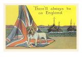 English Bulldog on Union Jack Posters