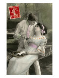 French Couple with Tennis Racquet Poster