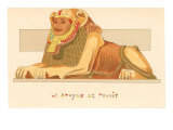 Sphinx of Thanit, Rendering, Egypt Posters