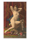 Naked Woman with Pearls Posters