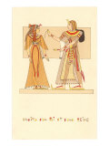 Pharaoh and Queen, Rendering, Egypt Poster
