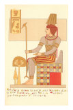 King of Thebes Tomb Painting, Egypt Prints