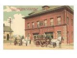 Early Fire Equipment, Providence, Rhode Island Poster