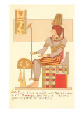 King of Thebes Tomb Painting, Egypt Print
