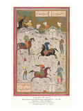 Polo, Persian Miniature Poster