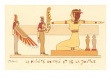 Rendering of the Goddess of Truth and Justice (Maat) Egypt Posters