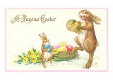 Joyous Easter, Rabbit with Cymbals Posters