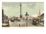 Nelson Column, Trafalgar Square, London, England Poster