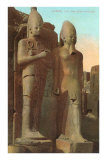 Statues at Luxor, Egypt Prints