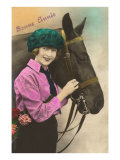 Bonne Annee, Girl with Horse Poster