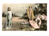 French Dramatic Scene Print