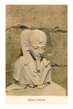 Pharaoh Bust, Karnak, Egypt Prints