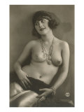 Topless Woman with Necklace Posters
