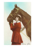 Bonne Fete, Girl with Horse Print