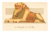 Sphinx of Thanit, Rendering, Egypt Prints
