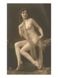 Nude Woman with Wrap Poster