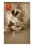 French Woman with Blossoms Print