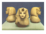 Alabaster Pharaoh Heads Posters