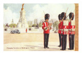 Guards at Buckingham Palace, London, England Print