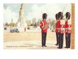 Guards at Buckingham Palace, London, England Print