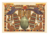 Inlaid Horus Wings, Scarab, Egypt Poster