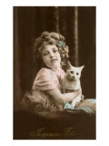 Joyeuse Fete, Girl with Cat Posters