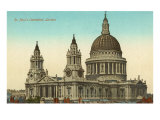 St. Paul's Cathedral, London, England Print