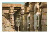 Pharaoh Statues, Luxor, Egypt Posters
