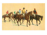 Horses and Jockeys Posters