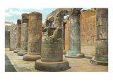 Carved Columns, Abydos, Egypt Print