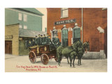 Early Fire Equipment, Providence, Rhode Island Print